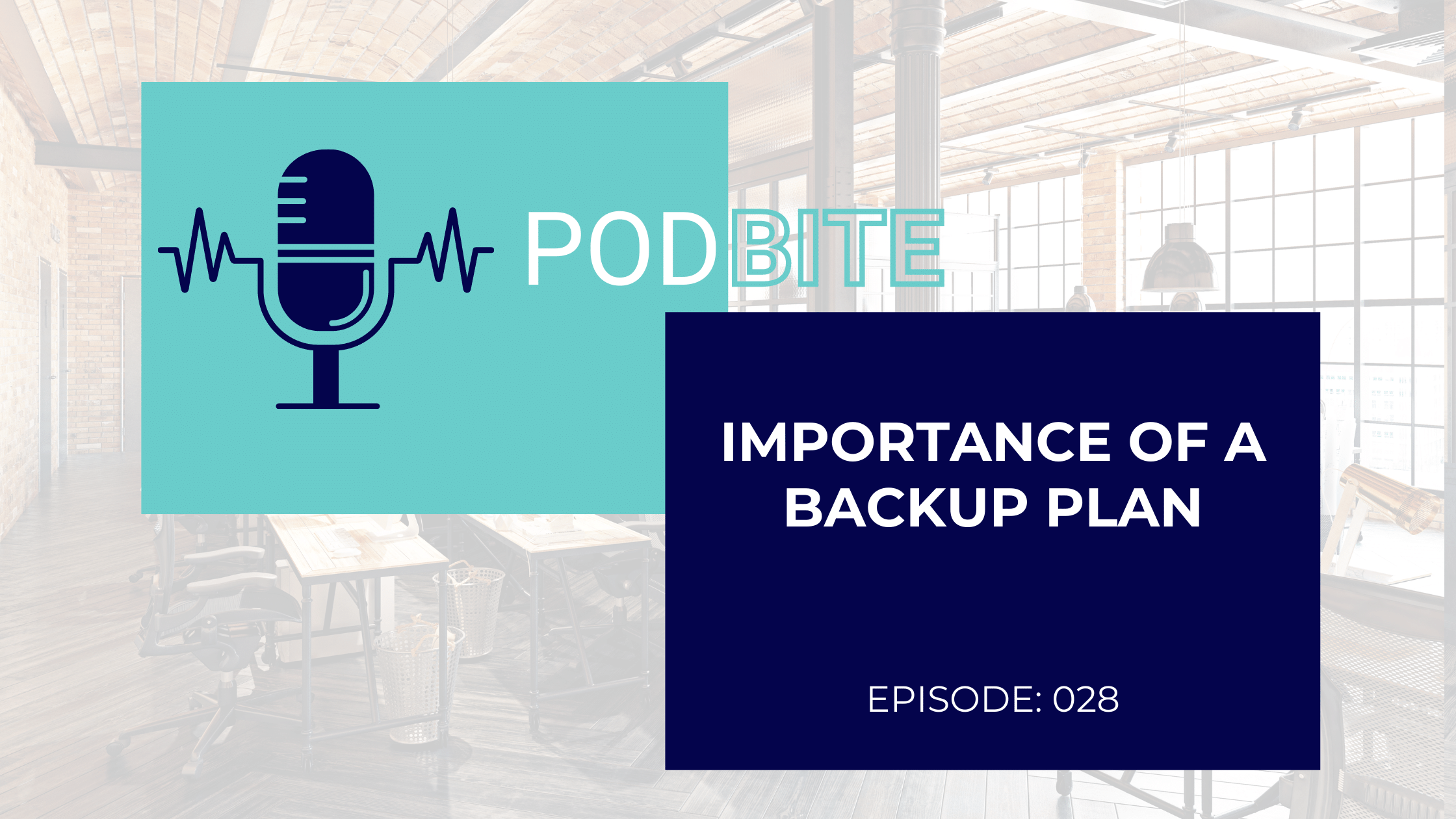 The Business & Learning Show PodBite - Having a Backup Plan